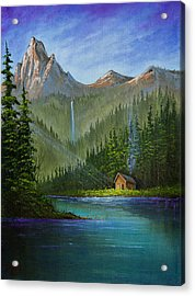 Mountain Haven Acrylic Print by C Steele