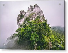 Mountain In The Cloud And Fog Acrylic Print