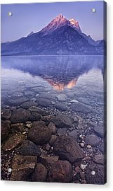 Mountain Lake Acrylic Print by Andrew Soundarajan