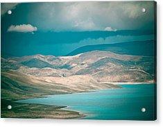 Mountain Lake In Tibet Peiku-tso Acrylic Print