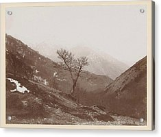Mountain Landscape With Bare Tree And Some Snow Acrylic Print