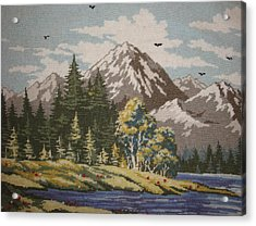 Mountain Lanscape Acrylic Print by Eugen Mihalascu