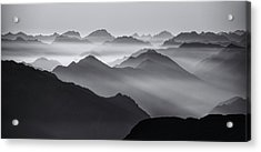 Mountain Layers Acrylic Print by Ales Krivec