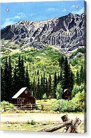 Mountain Majesty Acrylic Print by Barbara Jewell