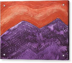 Mountain Majesty Original Painting Acrylic Print
