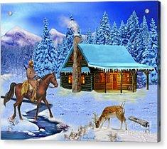 Mountain Man's Wilderness Acrylic Print