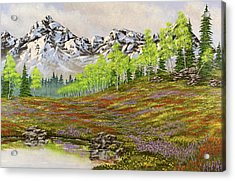 Mountain Meadow Acrylic Print by Jack Malloch