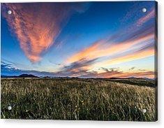 Mountain Meadow Sunset Acrylic Print by Jonathan Gewirtz