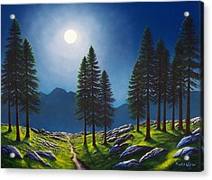 Mountain Moonglow Acrylic Print by Frank Wilson