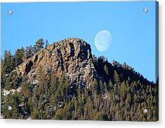 Mountain Moonset Acrylic Print
