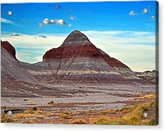 Mountain Of Color - Painted Desert  002 Acrylic Print by George Bostian