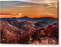 Mountain Of  Joy Acrylic Print by B Wayne Mullins