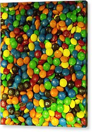 Mountain Of M And M's Acrylic Print by Anna Villarreal Garbis