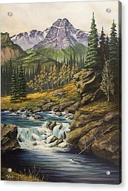 Mountain Of The Holy Cross Acrylic Print by Jack Malloch