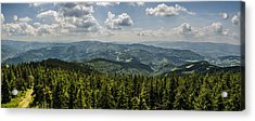 Acrylic Print featuring the photograph Mountain Panorama by Jaroslaw Grudzinski