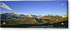 Mountain Panorama Acrylic Print by Tom Wilbert