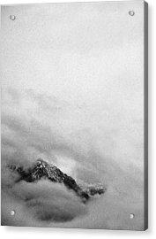 Mountain Peak In Clouds Acrylic Print