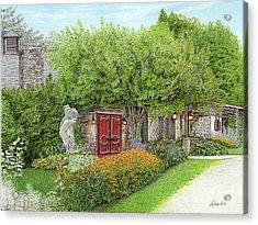 Acrylic Print featuring the painting Mountain Playhouse Jennerstown Pa by Albert Puskaric