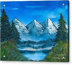 Mountain Pond Acrylic Print by Dave Atkins