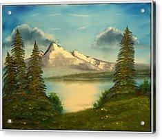 Mountain Pond Acrylic Print by Joyce Krenson