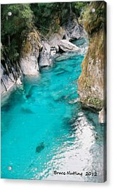 Acrylic Print featuring the painting Mountain Pool by Bruce Nutting