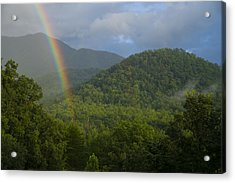 Mountain Rainbow 2 Acrylic Print by Larry Bohlin