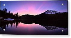 Mountain Rainier Reflection Lake Acrylic Print
