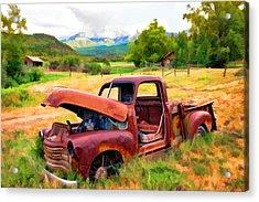 Mountain Ranch Truck Acrylic Print