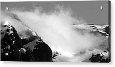 Mountain Range Black And White Three Acrylic Print by Diane Rada