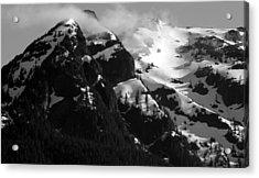 Mountain Range Black And White Two Acrylic Print by Diane Rada