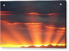 Acrylic Print featuring the photograph Mountain Rays by Shane Bechler