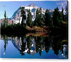 Mountain Reflection Acrylic Print by Cole Black