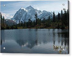 Acrylic Print featuring the photograph Mountain Reflection by Rod Wiens