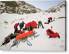 Mountain Rescue Team Acrylic Print by Ashley Cooper