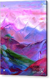 Mountain Reverence Acrylic Print by Jane Small