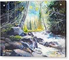 Mountain River Glow Acrylic Print