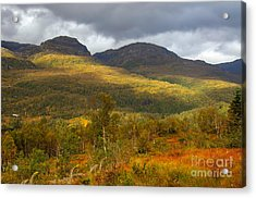 Mountain Scenery In Fall Acrylic Print by Gry Thunes