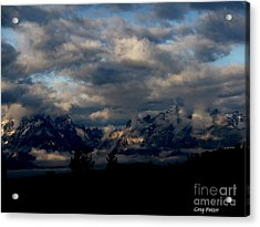 Mountain Silhouette Acrylic Print by Greg Patzer