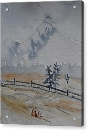 Mountain Snow Acrylic Print by Catherine Arcolio