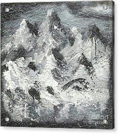 Mountain Snow Life Acrylic Print