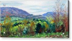 Mountain Spring- Virginia Mountains In Springtime Acrylic Print by Bonnie Mason