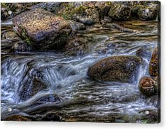 Mountain Stream On The Rocks Acrylic Print
