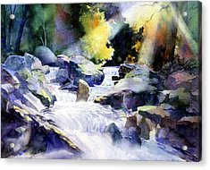 Mountain Stream Acrylic Print by Tom Poole