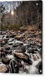 Acrylic Print featuring the photograph Icy Mountain Stream by Debbie Green