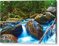 Acrylic Print featuring the photograph Mountain Streams by Alex Grichenko