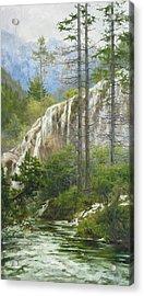 Mountain Streams Acrylic Print by Victoria Kharchenko