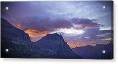 Sunrise Over Going To The Sun Mountain Acrylic Print
