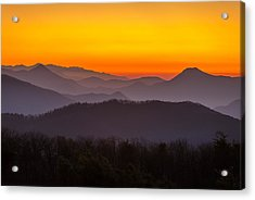 Mountain Sunset In Tennessee Acrylic Print
