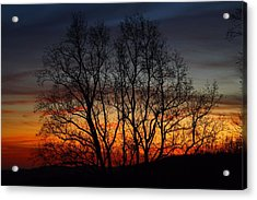 Acrylic Print featuring the photograph Mountain Sunset by Kathryn Meyer