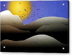 Mountain Sunset Landscape Art Acrylic Print by Christina Rollo